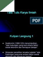 Tata Tulis Karya Ilmiah (Tulis)