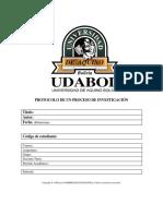Protocolo de Un Proceso Investigativo
