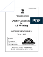 Handbook on Quality Assurance for at Welding(1)
