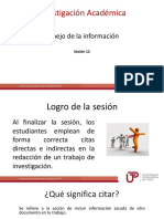 Sesion 12 Manejo de La Informacion