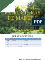 Diseño de Estructuras de Madera (Clase II Sem 2018)