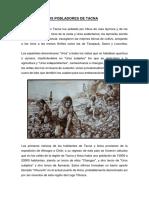 pobladores de Tacna