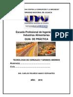 Guia Tecnologia de Cereales y Granos Andinos - Practica 2019-II (1)