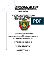 Procedimientos e Investigacion de Accidentes de Transito Promo Espartanos