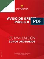Aviso Publicado La República 8° emision-bonos-2019