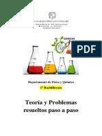 Física y Química - Teoria y Problemas (Sirve Como Repaso de Conceptos Básicos). 1ºbac Colegio Hispano Inglés Libsol Esp