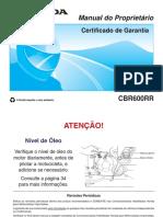 Manual proprietário cbr 600 2011
