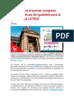 PJ realizará el primer congreso sobre políticas de igualdad para la comunidad LGTBIQ