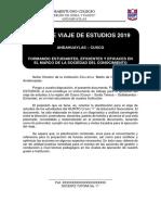 Plan de Viaje de Estudios 2019