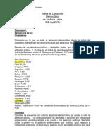 Indice de Desarrollo Democratico