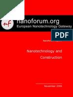 Nanotech and Construction Nanoforum Report
