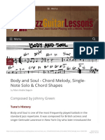 Jazz Standard Body and Soul for guitar