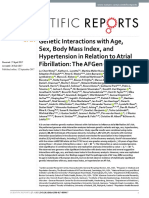 Genetic Interactions With Age, Sex, Body Masss Index, And Hypertension in Relation to Atrial Fibrillation