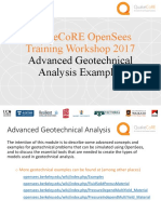 QuakeCore OpenSees Advanced Geo-Technical Examples