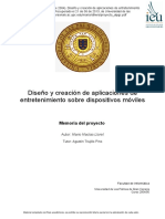 Diseño y Creación de Aplicaciones de Entretenimiento Sobre Dispositivos Móviles