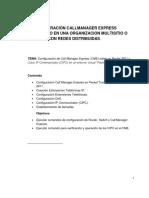 Configuración Callmanager Express Centralizado en Una Organizacion Multisitio o