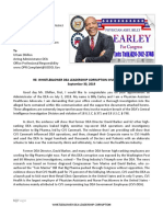 Billy Earley for Congress Request DEA Corruption Investigation Into Misconduct
