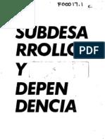 SUBDESARROLLO Y DEPENDENCIA