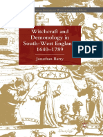 (Palgrave Historical Studies in Witchcraft and Magic) Jonathan Barry (Auth.)-Witchcraft and Demonology in South-West England, 1640–1789-Palgrave Macmillan UK (2012)
