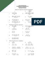 División de polinomios y  Expresiones racionales