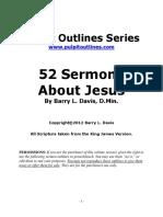 Sermon Outlines on Jesus