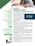 Double Licence Philosophie -Lettres Modernes 2018 Web