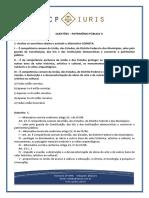 Questoes Comentadas - Cp Iuris - Patrimonio Publico II