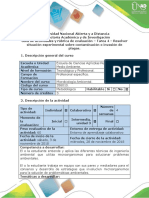 Guía de actividades y rúbrica de evaluación - Tarea 4 - Resolver situación experimental sobre contaminación o invasión de plagas.docx