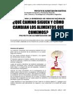 Que camino siguen y cómo cambian los alimentos que comemos - Alfabetización científica - Ministerio.pdf