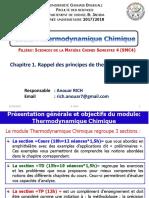 Cours Thermo_Chapitre 1_Rappel Des Principes de Thermodynamique_SMC4_2018