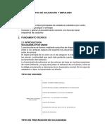 Informe Nro 4 - Tipos de Soldadura y Empalmes