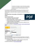 Pasos para Crear una consulta, un formulario o un informe en Access