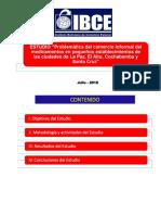 Comercio Informal Medicamentos Gonzalo Vidaurre Ibce 2018