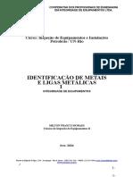 Identificação de Metais e Ligas