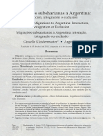 Migraciones sub-saharianas a Argentina