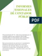 Informes de Cr Público Inf. Prof. - Compilación y Certificación