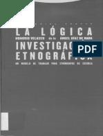 La Lógica de La Investigación Etnográfica
