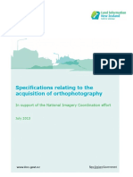 Specification Relating Acquisition Ortho Photography