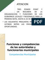 funciones y competencias de las autoridades