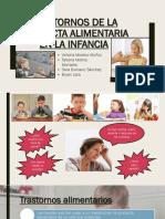 Trastornos de La Conducta Alimentaria en La Infancia