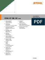 Stihl ht101 parts manual
