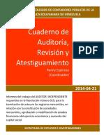 FCCPV_Resoluciòn 019 Cuaderno de Auditoria Revisiòn y Atestiguamineto (21!04!2014)