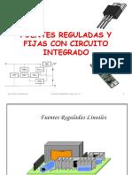 Fuentes Reguladas y Fijas Con Circuito Integrado