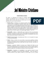 Perfil Del Ministro Cristiano