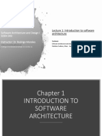 01 Introduction to Sw Architecture