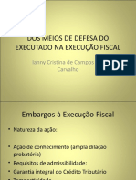 DOS MEIOS DE DEFESA DO EXECUTADO NA EXECUÇÃO.ppt