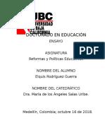 Ensayo-una Breve Mirada Al Desarrollo de Las Politivas Publicas Educativas en Colombia, Desde Latinoamerica