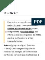 Astarte – Wikipédia, A Enciclopédia Livre