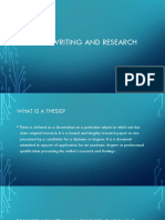 Thesis Writing and Research Ppt