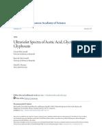 Ultraviolet Spectra of Acetic Acid Glycine and Glyphosate